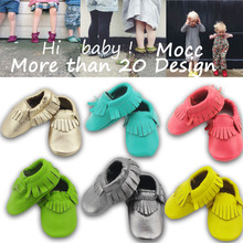 Genuine Leather tassels Shoes Baby Girls Boys Newborn Moccasin Shoe Toddler First Walker Soft Moccs Cute Crib Shoes Bebe Sneaker(China (Mainland))