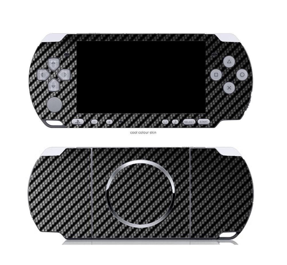 Black Carbon Fiber Vinyl Skin Sticker Protector for Sony PSP 3000 skins Stickers for PSP3000(China (Mainland))