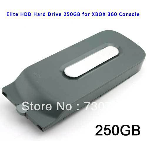Free Shipping Elite HDD Hard Drive 250GB for XBOX 360 Console(China (Mainland))