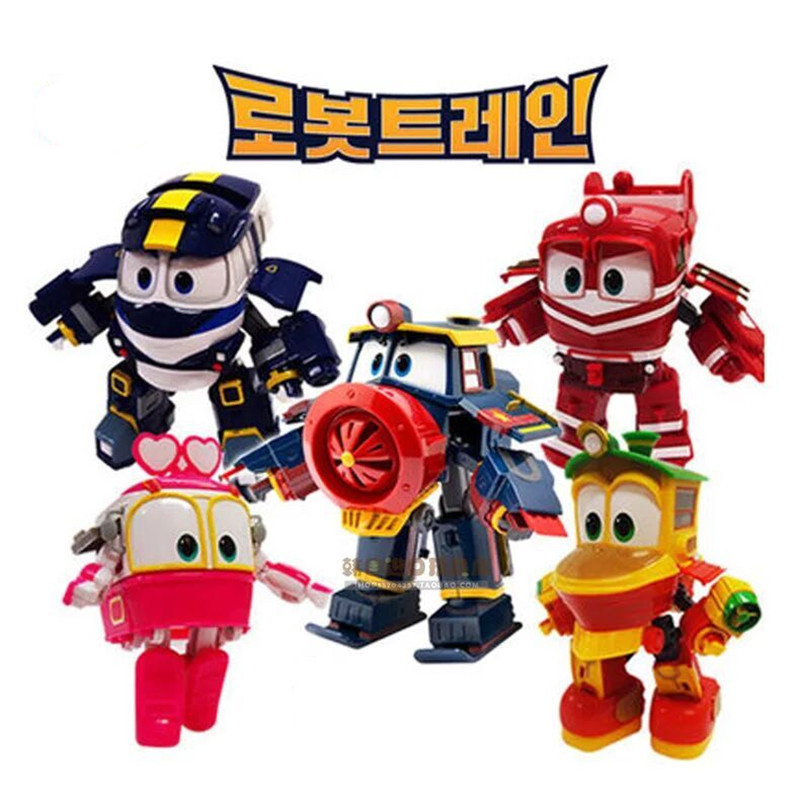 NEW hot 4pcs/set 8cm Robot Trains Transformation Kay Alf Dynamic Train Family Deformation Train Car action figure toys toy doll(China (Mainland))
