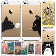 Merry Christmas For Apple iPhone 5 5S Ultra Thin 0.5mm Soft TPU Translucent  Painted Mobile Phone Accessories Back Skin Case