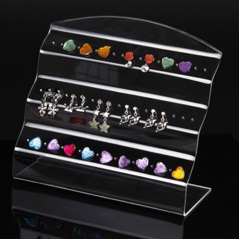 wholesale 2pcs clear view acrylic earring ear stud display