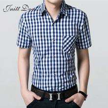 Free shipping!2016 new hot men's casual shirt short sleeve plaid shirt thin summer men's shirts DX-4(China (Mainland))