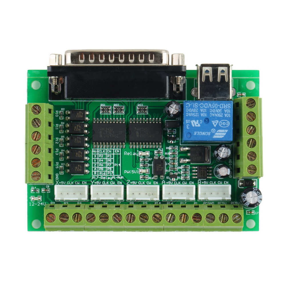 Hot Worldwide 5 Axis Interface CNC Breakout Board For Stepper Motor Dr