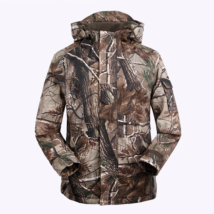 Free Knight Outdoor Military Camouflage Coat Hunting Product Fish Windbreaker Fleece Cotton Hunting Clothes Size:M-XXXL(China (Mainland))