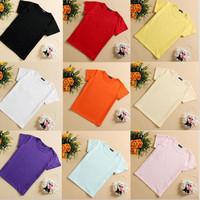 2015 Boy's t shirt Kids Clothes Pure 11 Color Cotton Girl Boys t shirt Clothes O Neck Short Sleeve t-shirt Plus Size Boys Shirts