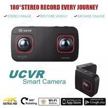 Free shipping! Digital UCVR Eye Sports Camera 360 Degree Dual-lens 4K Panoramic 3D VR Camera(China (Mainland))