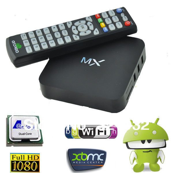 MX Amlogic 8726 Dual Core Android TV BOX XBMC Full Download 1G/8G WiFi USB RJ-45 AV HDMI Gbox Media Player - Shenzhen corder xin technology co., LTD store