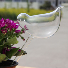 Creative Bird Shape Clear Glass Self Watering Garden Sprinklers Automatic Waterer Plant Flower Nurse(China (Mainland))