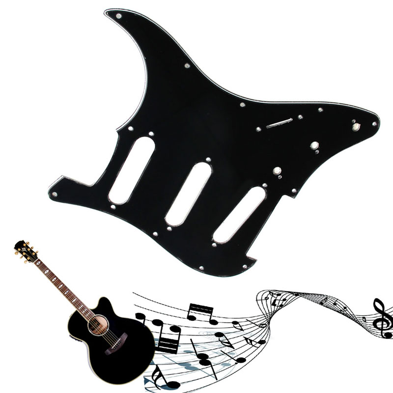 3Ply Electric Guitar Pickguard Scratch Plate For Fender Strat Stratocaster Black(China (Mainland))