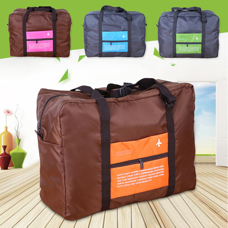 New Solid Durable Travel Bag Foldable Waterproof Bag Convenient Duffle Bags Pouch(China (Mainland))