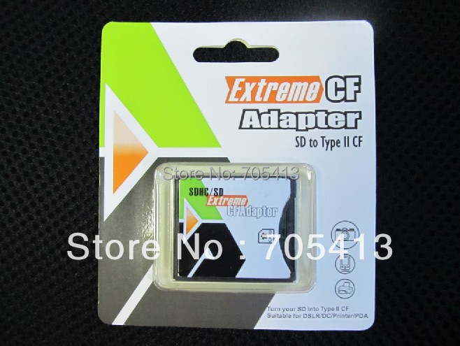 New SDHC SD MMC to Compact Flash Type II CF Card Adapter Support sdhc 16G 32G 64GB(China (Mainland))