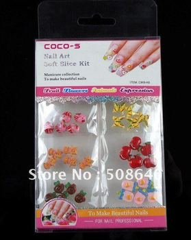 High Quality Lovely 3D Acrylic Tips Nail Art Polymer Clay Decoration For Manicure & Pedicure Beauty Desgin -FREESHIPPING 102