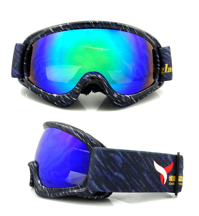 Ski Goggles for Boys Girls REVO Plating Lens, Student UV400 Snowboard Goggles, Kids Teens Anti-fog Double Wear Over RX Frame(China (Mainland))