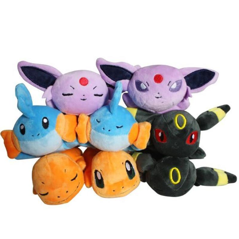 "8pcs/lot Pokemon Espeon Charmander Umbreon Mudkip Plush Toy Stuffed Dolls 8""20cm Free Shipping(China (Mainland))"