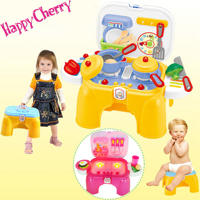 Happy Cherry Multifunctional Sound And Light Children Role Play Kitchen Toys Set Kids Pretend Play Cooking