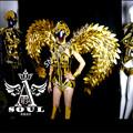 TC-109 Full color LED light robot stilts costumes colorful led wear ballroom dance dj luminous suit mens helmet programmable led