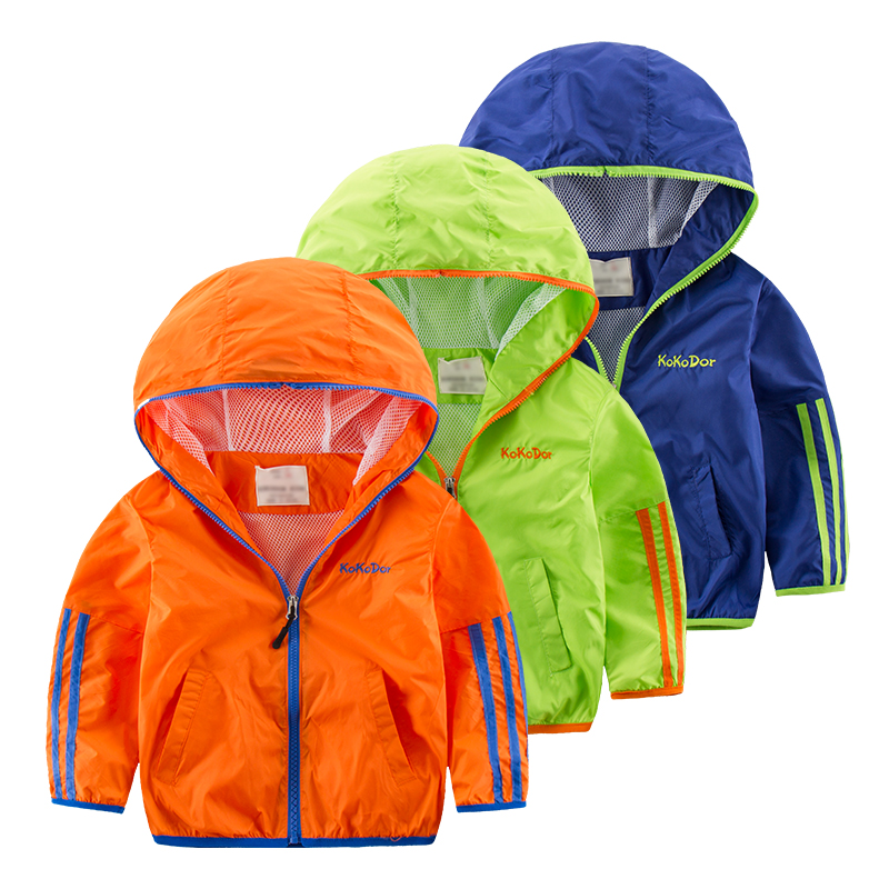 children stripe jacket sun protection  2016 childrens clothing child with a hood zipper sweater baby sports casual outerwear<br><br>Aliexpress