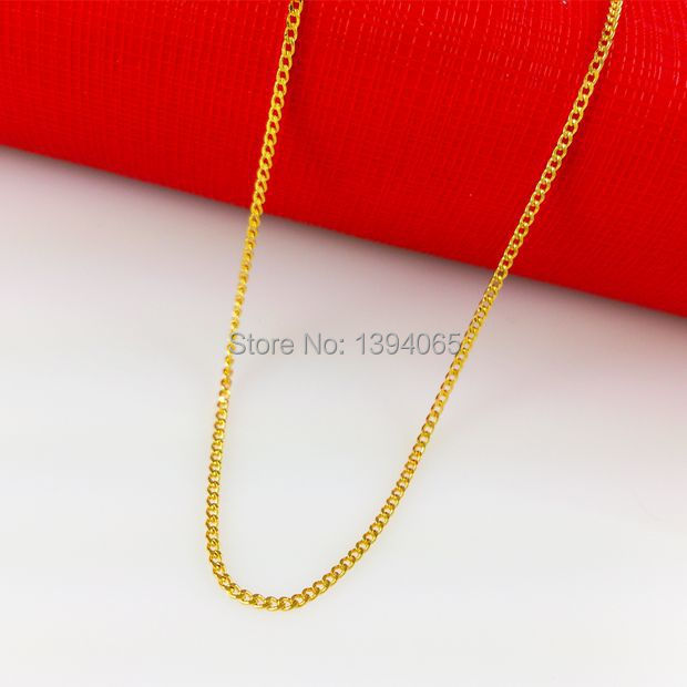 Real 24K Yellow Gold Plated Necklace Jewellry ! African Man Women Shine Figaro Chains Fashion 24KGP Jewelry ! B009(China (Mainland))