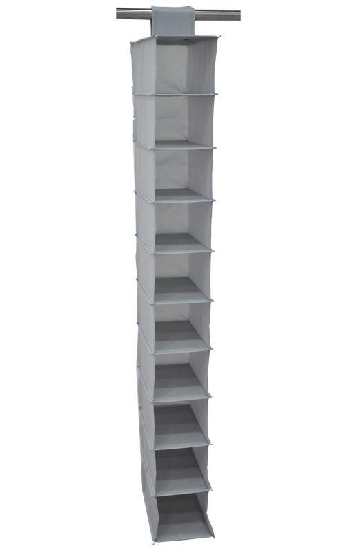 Multifunction Storage Collection Foldable Hanging 10 Compartments Shoe Organizer, Light Grey,low price(China (Mainland))
