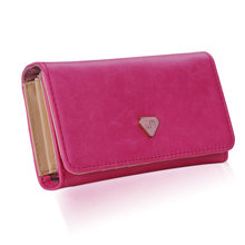 2015 Women Money Clip Wallet Multifunctional Clutch Bag Leather Phone Case Purse for iPhone 4 4S