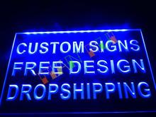 Custom Design Your Own LED Neon Light Sign Bar Open Decor Crafts Dropshipping(China (Mainland))