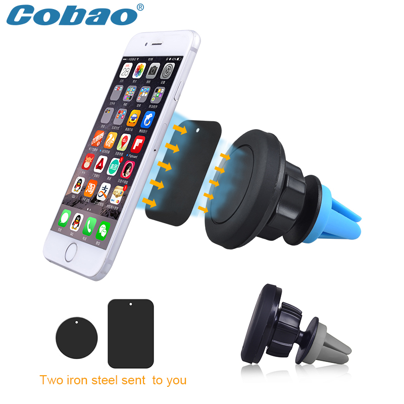 Universal magnetic smartphone car holder Cobao brand 360 degree rotating air vent magnet phone holder stand for all phones(China (Mainland))