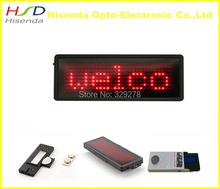 Free shipping 5pcs/lot LED name badge tag mini board 100% led manufacturer sale Red color pixel 7*29