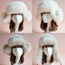2016 Fashion Autumn and Winter Unisex Fur Hats Casual Women's Faux Fox Fur Hat Caps Headband Headgear Headdress Male black,white(China (Mainland))