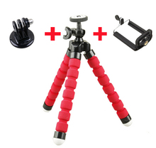 3 Colors Mini Flexible Octopus Tripod + Phone Holder +Adapter Bracket Holders Stand for Gopro Hero 3 3+ SJ4000 5000 for iPhone