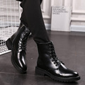 Autumn and winter warm men s leather Martin boots male boots male boots in tube