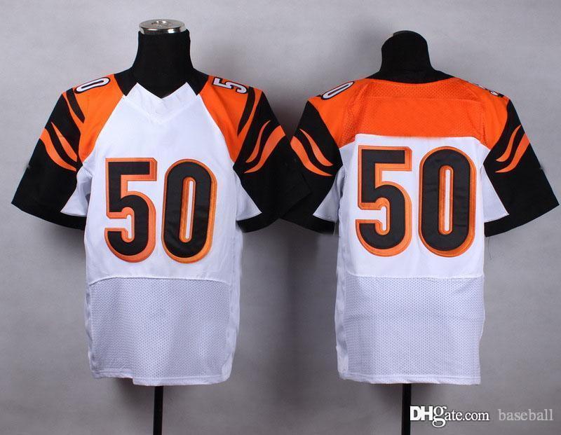 Cinci #50 White Elite American Football Jersey Authentic Football Uniforms Cheap Sportswear Allow Mix Order(China (Mainland))
