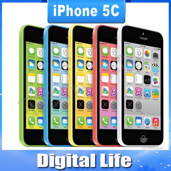 iPhone5c Original Unlocked Apple iPhone 5C IOS 8 GPS WIFI Dure Core 4.0 Screen 16GB/32GB storage mobile Phone(China (Mainland))