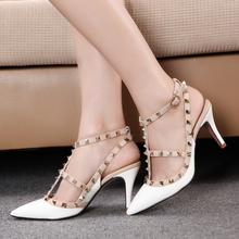 2016 Pointed Stiletto High Heels With Slim Strap Sandals Women s Shoe zapatos mujer Plus Size