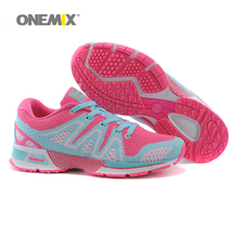 ONEMIX Woman Running Shoes for Women Run Woven Athletic Trainers Peach Zapatillas Sports Shoe Light Outdoor Walking Sneakers 3