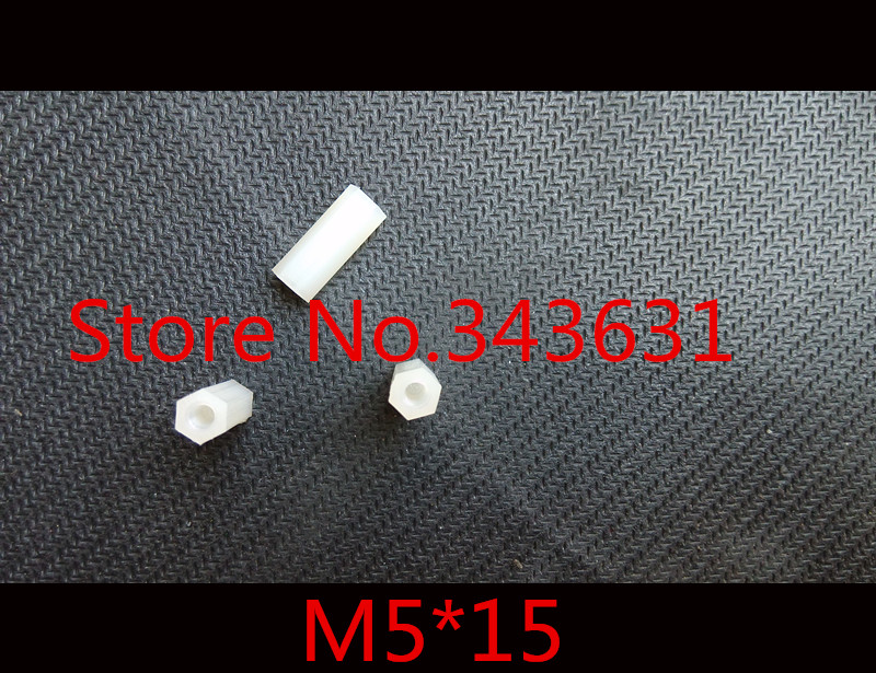 100pc/lot M5*15  M5 x 15  Withe nylon standoff  Hex Spacer Female To Female<br><br>Aliexpress