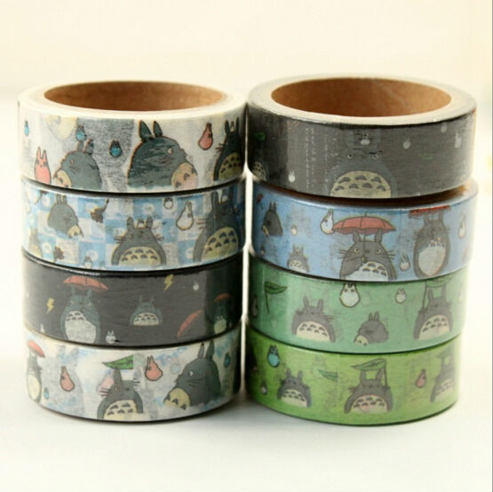 Cute Totoro paper tapes 1.5cm*5m washi tape Japanese Masking deco adhesive stickers Stationery school supplies WJ0078<br><br>Aliexpress