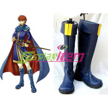 Free shipping customized Fire Emblem cosplay Fire Emblem The Sword of Flame Eliwood Cosplay Boots
