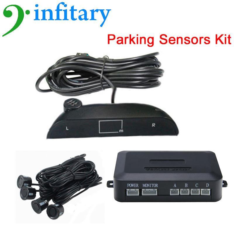 Car Radar LED Monitor Auto Detector Reversing System Parking Sensor Kit Buzzer Alarm Auto Detect 4 Sensors LED Screen Monitoring(China (Mainland))