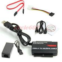 USB 3.0 a 2.5 «3.5» HDD Disco Duro SATA OTB IDE Adaptador Convertidor + Cable De Alimentación EE.UU. Plug