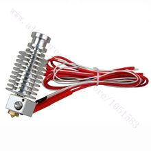 3D Printer Wade extruder All metal  E3D J-head Hot End with Heater& Thermistor, 1.75/3mm, 0.2-0.5mm Nozzle optional