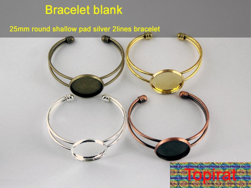 Cuff Bracelet Blanks Wholesale 25mm Round Cuff Bracelet Blank