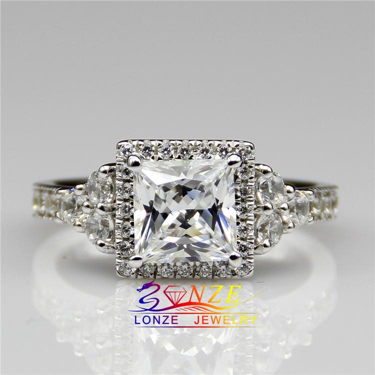 popular 2 carat princess cut diamond ringbuy cheap 2