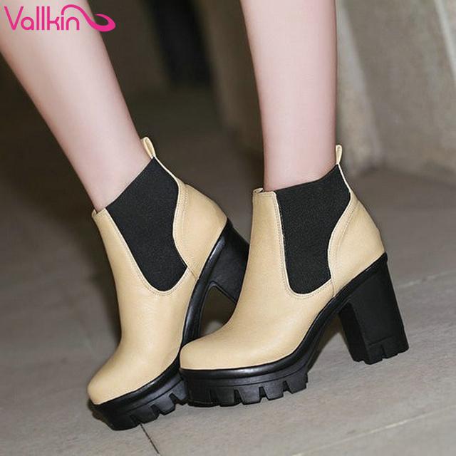 Vallkin мода лодыжки на высоком каблуке зашнуровать туфли на платформе туфли на высоком ...