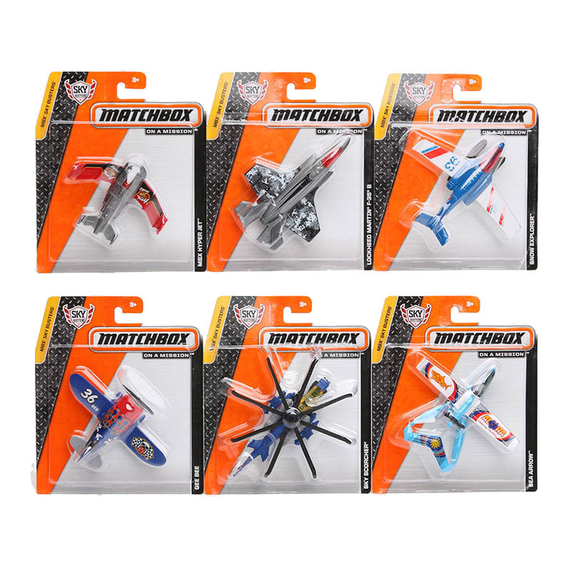 Authorized Matchbox Series Model Fighter mini kids toys Plastic metal miniatures Aircraft airplane Helicopters(China (Mainland))