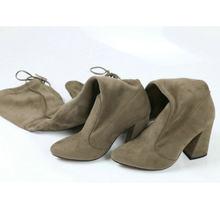 QUTAA 2020 Mới Đàn Da Phụ Nữ Trên Đầu Gối Giày Phối Ren Gợi Cảm Cao cấp Thu Đông Người Phụ Nữ Giày Mùa Đông Nữ giày Size 34-43(China)