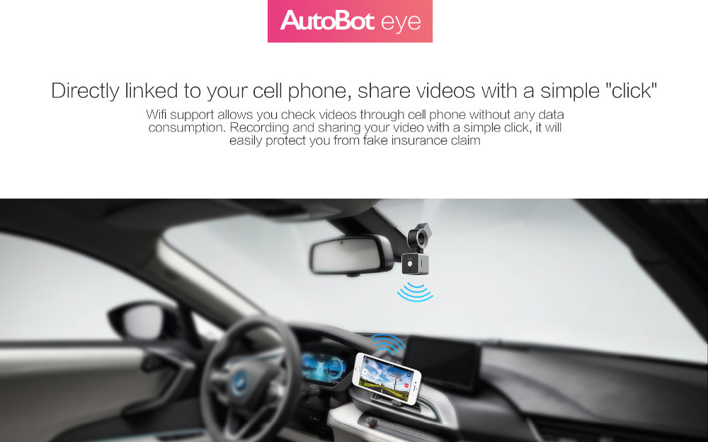 AutoBot Eye Smart Mini 1080P Full HD dashcam connect met Smartphone!