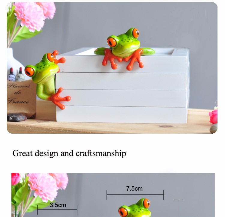 Home Decoration 2016 New Artificial Animal Crafts Cute Kawaii Micro Landscape Personalized Frog Figurine Decor