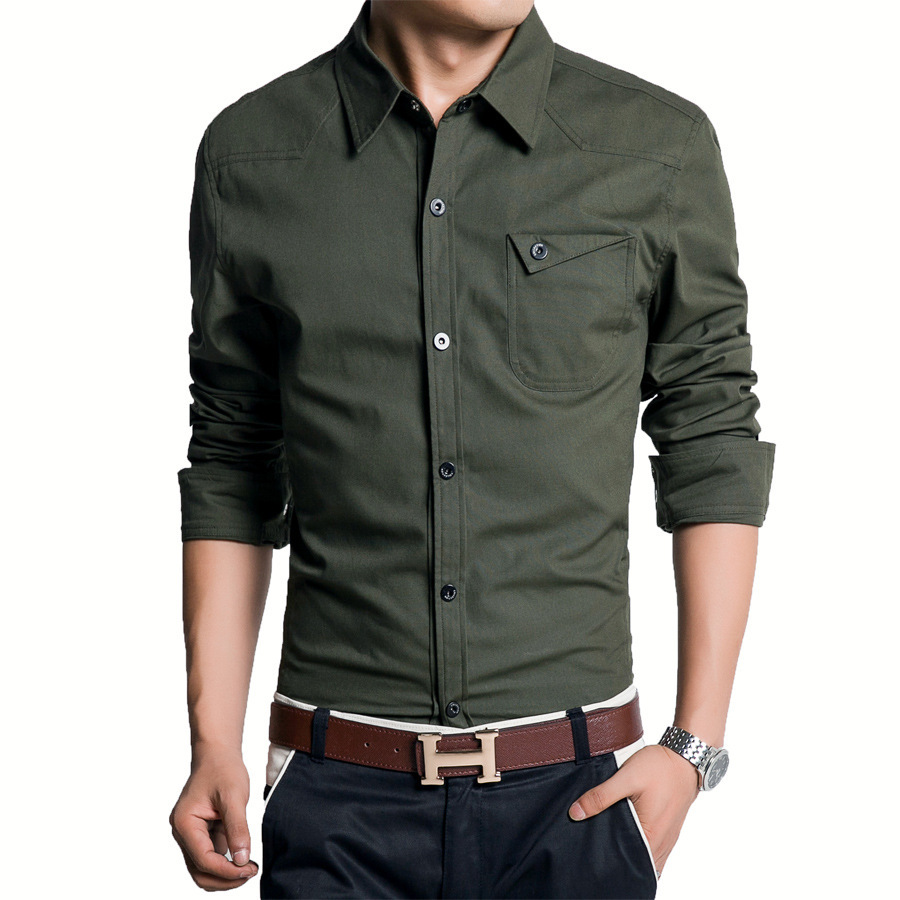 Free shipping hot sale spring autumn cotton long sleeve for Mens business shirts sale
