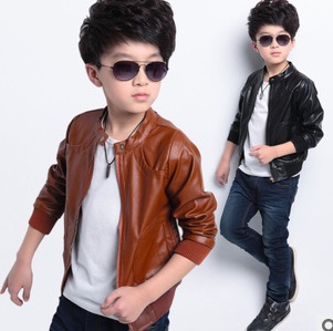 2016 spring big boys jacket Korean version children's wear leather jackets Coat A414 - Sean Children Clothes store
